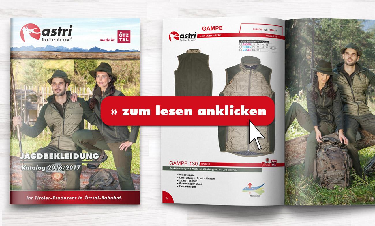 Astri - Jagdbekleidung Katalog 2016-17
