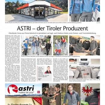 Astir - Artikel Tiroler Tageszeitung