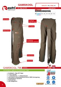 Astri - Produkte Jagd - Gamskogl 796