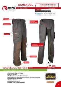 Astri - Produkte Jagd - Gamskogl 888